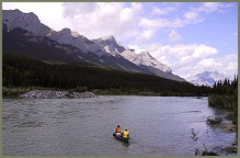 Canoe on the Bow River